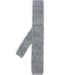 Мужской черный вязаный галстук от Eleventy