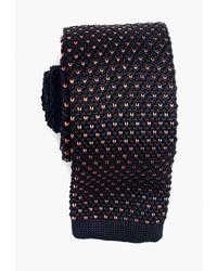 Мужской черный вязаный галстук от Quesste