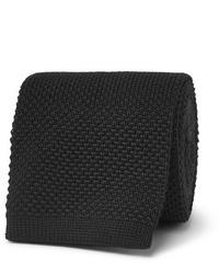 Мужской черный вязаный галстук от The Row