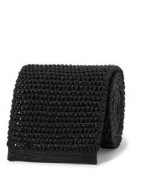 Мужской черный вязаный галстук от Tom Ford