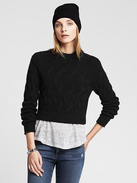 чёрный свитер женский фото