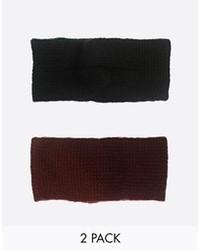 Черный вязаный ободок/повязка от Asos