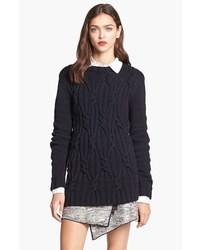 Черный вязаный свитер