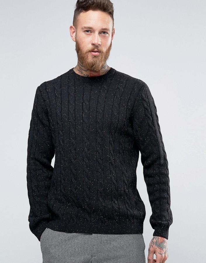3c44e29bca3 ... Мужской черный вязаный свитер от Asos ...