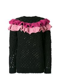 Женский черный вязаный свитер от Boutique Moschino