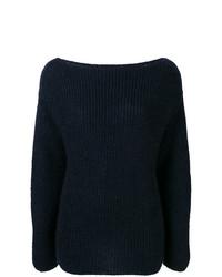 Женский черный вязаный свитер от Forte Forte