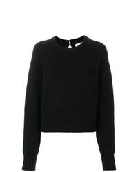 Женский черный вязаный свитер от Le Kasha