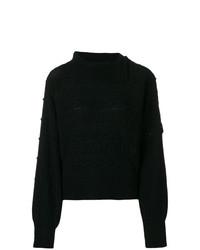 Женский черный вязаный свитер от Philosophy di Lorenzo Serafini