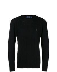 Мужской черный вязаный свитер от Polo Ralph Lauren