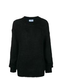 Женский черный вязаный свитер от Prada