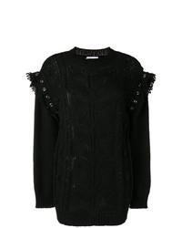 Женский черный вязаный свитер от RED Valentino