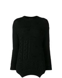 Женский черный вязаный свитер от Simone Rocha