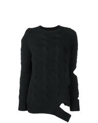 Женский черный вязаный свитер от Zoe Jordan