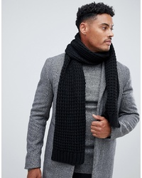 Мужской черный вязаный шарф от ASOS DESIGN