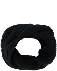 Мужской черный вязаный шарф от Balmain