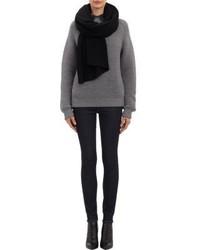 Женский черный вязаный шарф от Barneys New York
