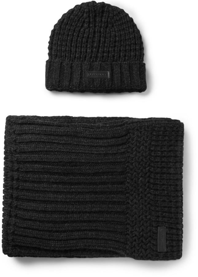 Мужской черный вязаный шарф от Belstaff   Где купить и с чем носить 2cebc1e73a3