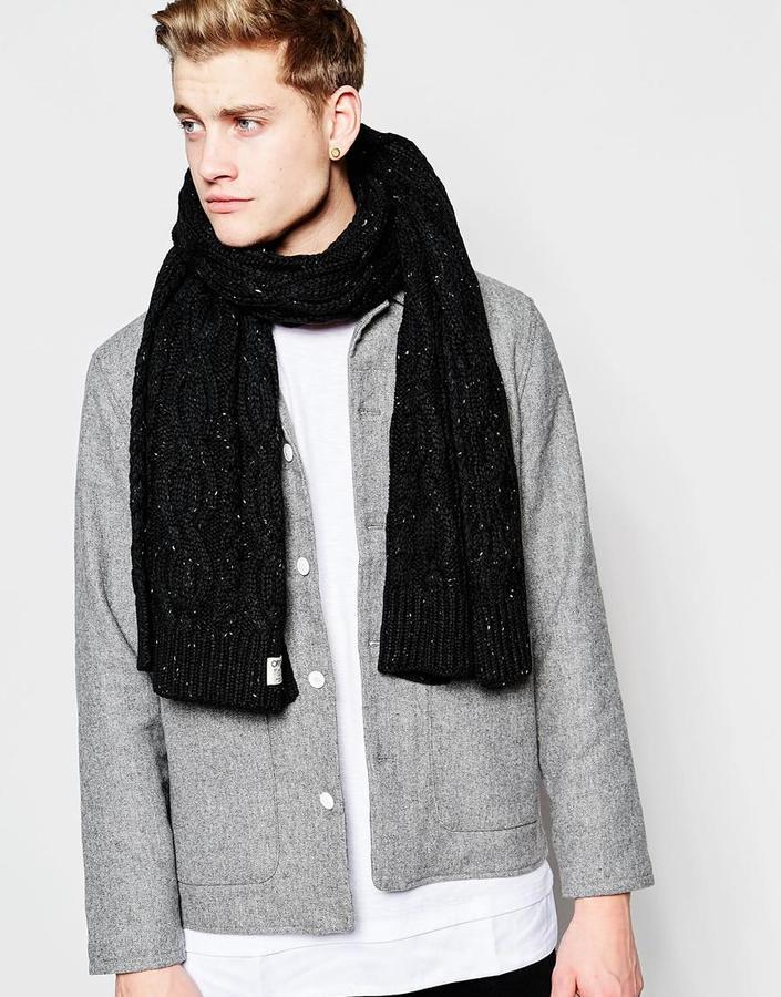 Мужской черный вязаный шарф от Jack and Jones   Где купить и с чем ... 71a2cd49d14