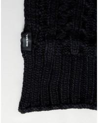 Мужской черный вязаный шарф от Diesel   Где купить и с чем носить 459fbe26261