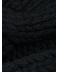 Мужской черный вязаный шарф от Balmain   Где купить и с чем носить e98d669ac60