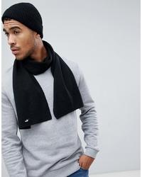 Мужской черный вязаный шарф от Puma