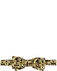 Мужской черный галстук-бабочка с принтом от Versace