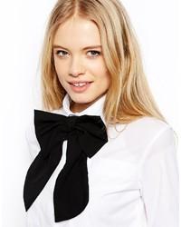 Женский черный галстук-бабочка от Asos