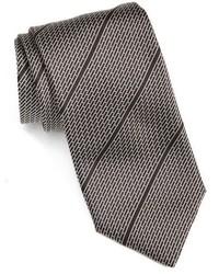 Черный галстук в горизонтальную полоску
