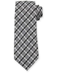 Черный галстук в шотландскую клетку