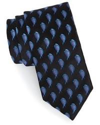 Черный галстук с принтом