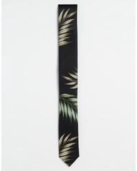 Мужской черный галстук с принтом от Asos