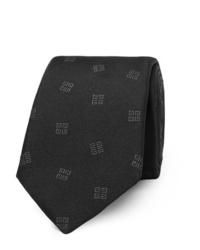 Мужской черный галстук с принтом от Givenchy