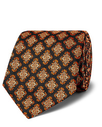 Мужской черный галстук с принтом от Kingsman
