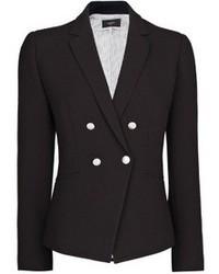 Черный двубортный пиджак