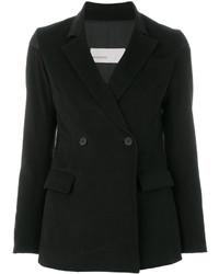Женский черный двубортный пиджак