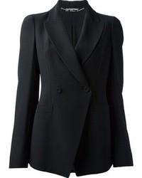 Женский черный двубортный пиджак от Alexander McQueen