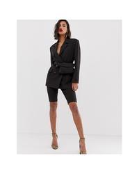 Женский черный двубортный пиджак от ASOS DESIGN