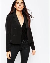 Женский черный двубортный пиджак от Asos
