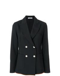Женский черный двубортный пиджак от Barena