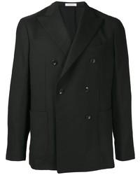 Мужской черный двубортный пиджак от Boglioli