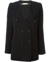 Женский черный двубортный пиджак от Chloé