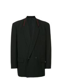 Мужской черный двубортный пиджак от Comme Des Garçons Vintage