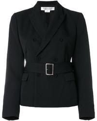 Женский черный двубортный пиджак от Comme des Garcons