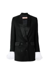 Женский черный двубортный пиджак от Cristina Savulescu