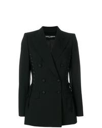 Женский черный двубортный пиджак от Dolce & Gabbana