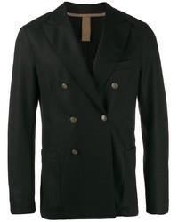 Мужской черный двубортный пиджак от Eleventy
