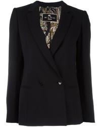 Женский черный двубортный пиджак от Etro
