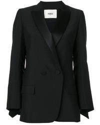 Женский черный двубортный пиджак от Fendi