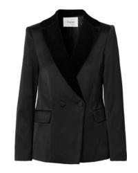 Женский черный двубортный пиджак от Frame