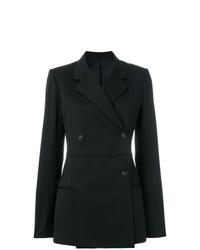 Женский черный двубортный пиджак от Helmut Lang